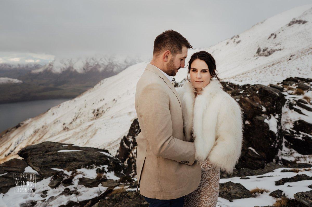 wedding designer fur jacket