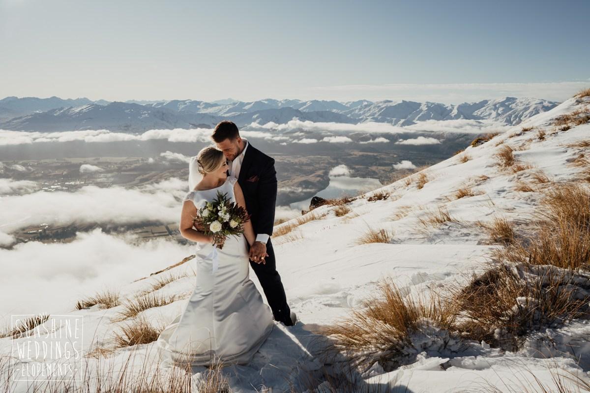 Remarkables elopement nz mountain wedding