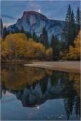 Autumn Moonrise, Half Dome and the Merced River, Yosemite