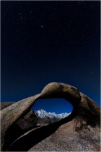 Moonlight, Whitney Arch, Alabama Hills, California