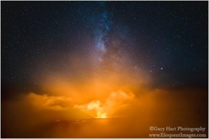 Gary Hart Photography: Fire and Mist, Halemaumau Crater, Kilauea, Hawaii