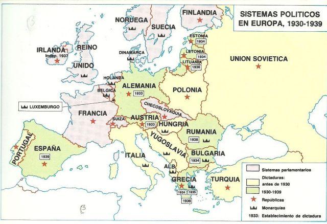 Dictaduras Europa 1930