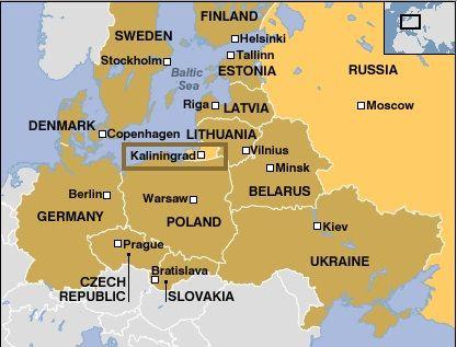 Mapa Kaliningrado