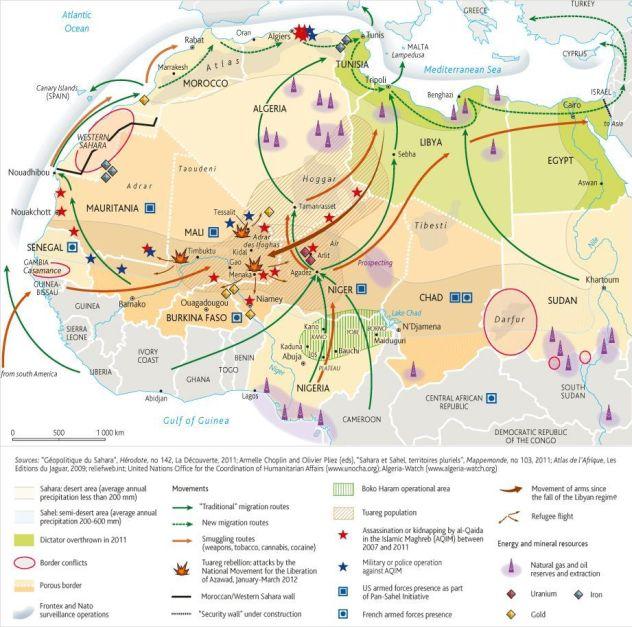 África - Conflictos - Seguridad - Economía - Energía - Consecuencias de la caída de Libia