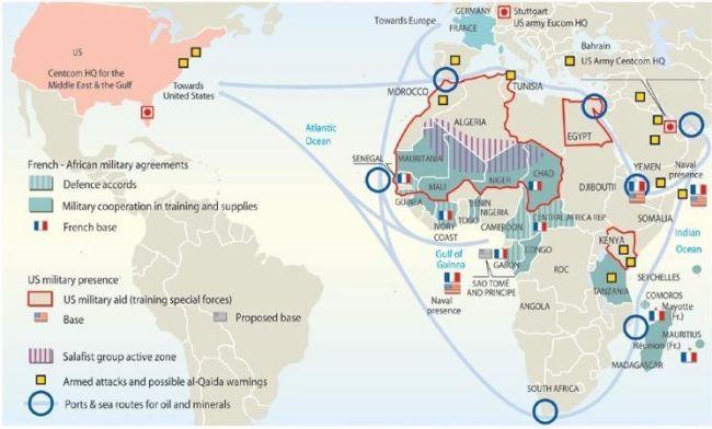 Francia presencia en África