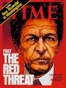 """""""La amenaza roja"""" así es como apodaba la revista Time a Enrico Berlinguer"""