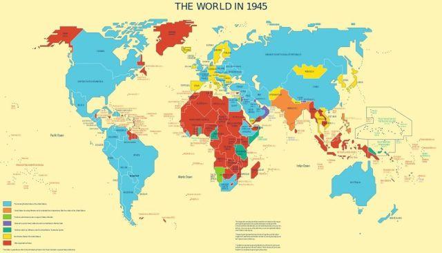 Mundo en 1945