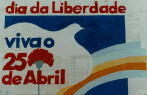 Mural sobre el 25 de abril en Portugal. Sin lugar a dudas, el 25 de abril es el evento más importante en la Historia de Portugal desde la caída del Estado Novo.