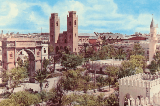 Mogadiscio en los años 70. SOMALI RESEARCH CENTER
