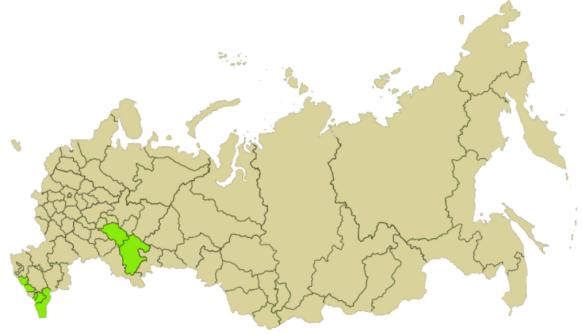 Regiones rusas con mayoría musulmana. Wikicommons https://en.wikipedia.org/wiki/Islam_in_Russia#Islam_in_the_Soviet_Union
