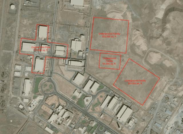Fuente: Iran Nuclear Site: Natanz Uranium Enrichment Site – PublicIntelligence.net (https://publicintelligence.net/iran-nuclear-site-natanz-uranium-enrichment-site/)