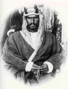 Una de las primeras fotografías de Abdul Aziz ibn Saud.