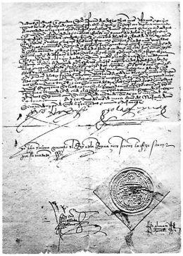 Edicto de Granada. Con él, miles de judíos eran forzados al exilio por orden de los Reyes Católicos.