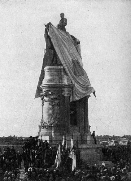 Inauguración de la estatua ecuestre de Robert E. Lee en Richmond, Virginia, año 1890