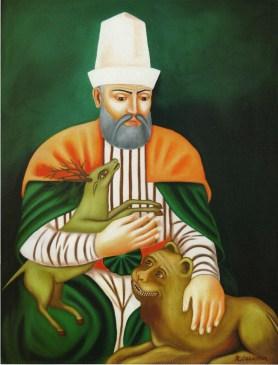 Hacı Bektaş-ı Veli, quien dio origen al alevismo