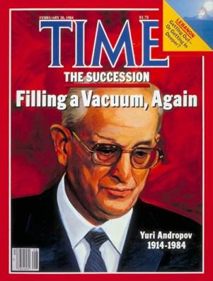 Portada de la revista Time tras el fallecimiento de Yuri Andropov