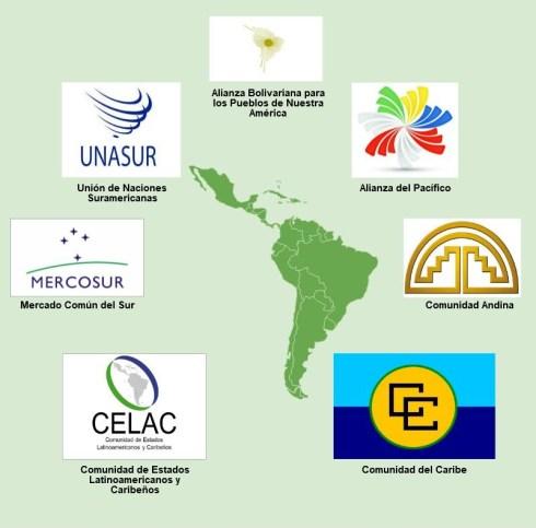 Los distintos proyectos de integración existentes en América Latina