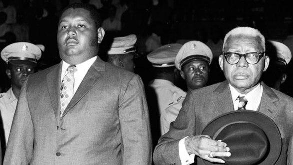 En la imagen las dos generaciones de Duvalier, Baby y Papa Doc
