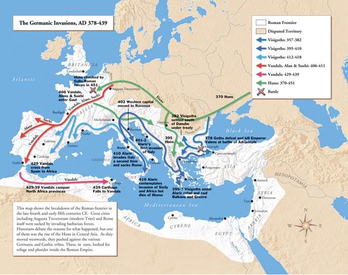 """El mapa de las """"Invasiones bárbaras"""""""