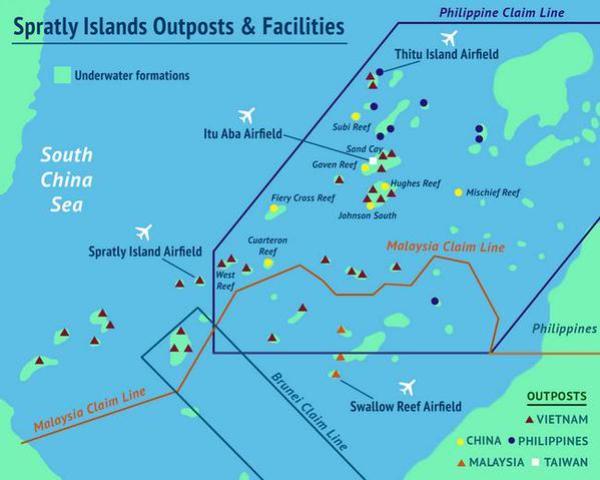 Brunei también está inserta en las dinámicas de las Spratly, aunque su papel es mucho más discreto