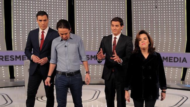 El debate televisado a 4 fue un hito en la historia política española, ya que nunca se había celebrado uno.