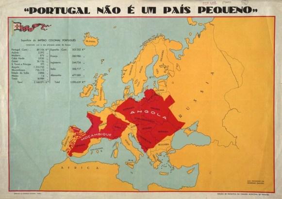 Mapas repartidos en Portugal durante el Estado Novo. Fuente: Reddit
