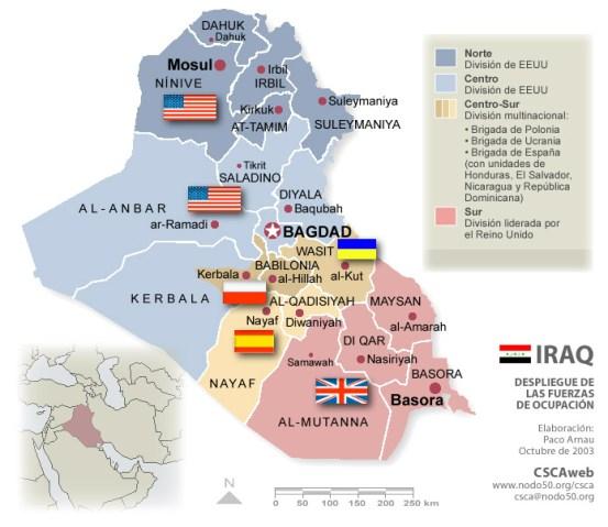 Fuerzas de ocupación extranjeras. Fuente: CSCA