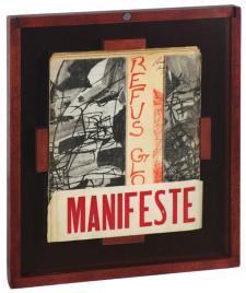 El Refus global fue un manifiesto respaldado por un conjunto de autores surrealistas procedentes de distintas ramas artísticas. Fuente: Pinterest