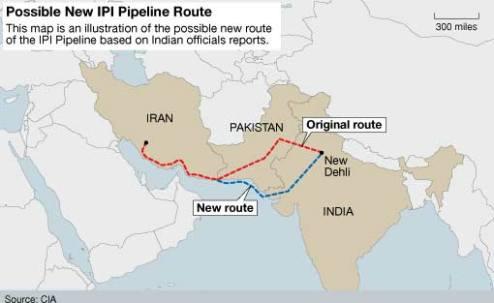 La rivalidad indo-pakistaní dificulta la transnacionalización de los flujos de energía con Irán. Fuente: Domain-b