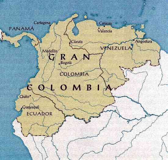 mapa gran colombia