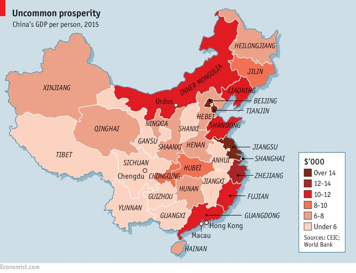 china paía desigual.