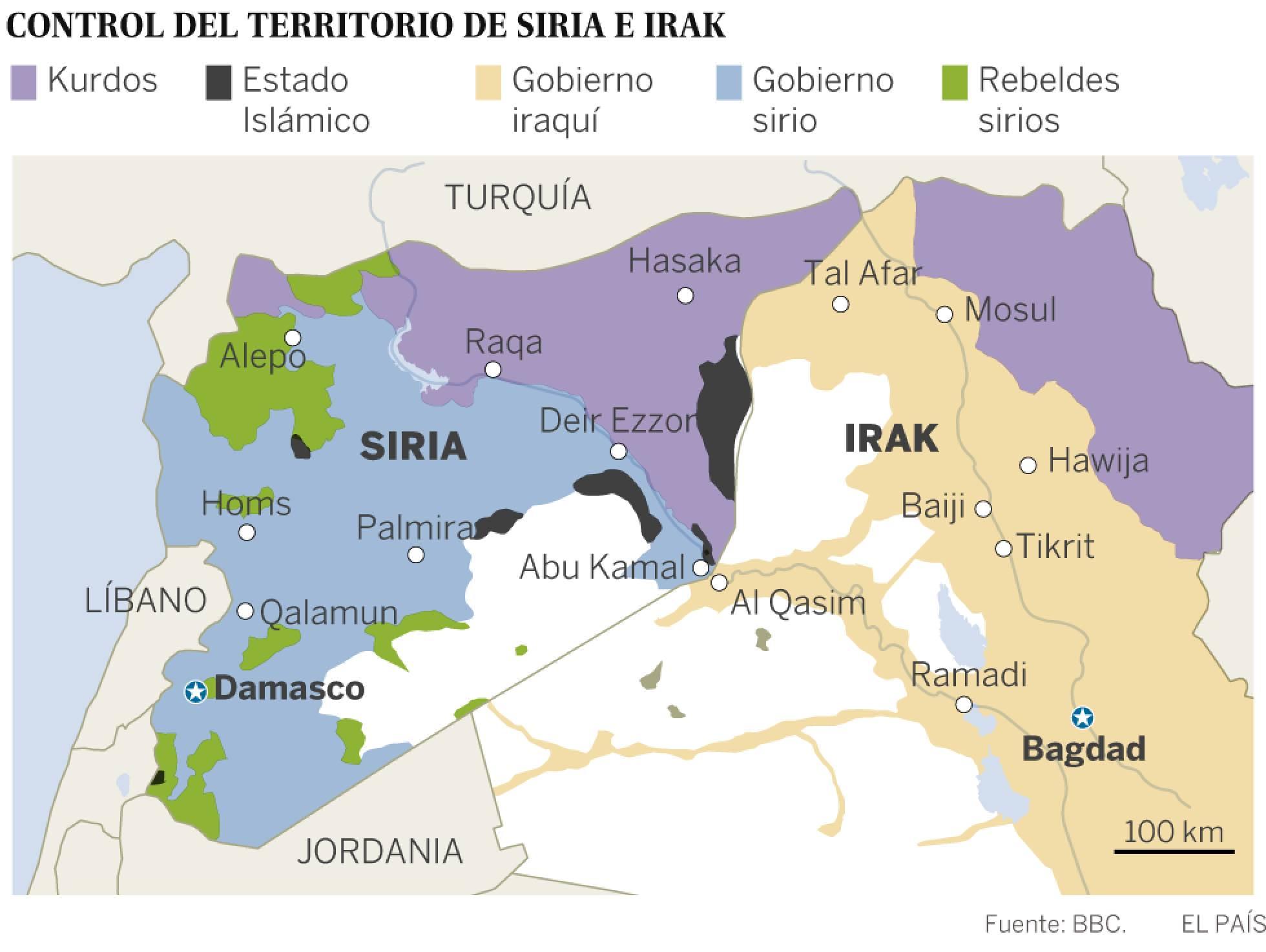Oriente Próximo control siria iraq