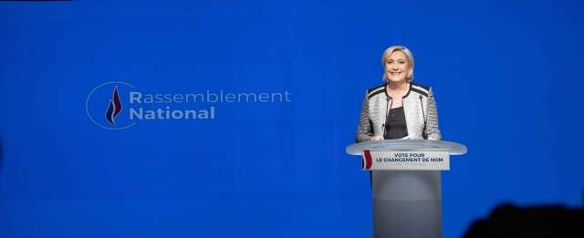 La Agrupación Nacional de Marine Le Pen