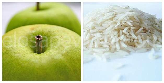 """La dieta che fa perdere 5 kg in sette giorni:""""La dieta del riso e della mela"""""""