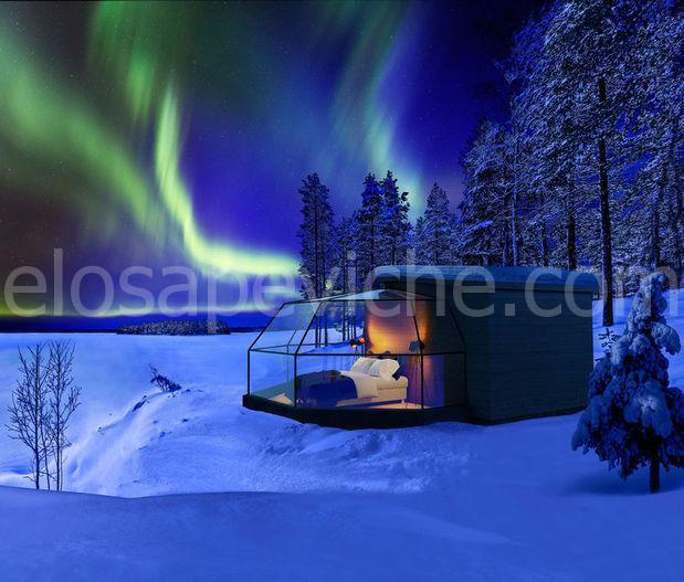 Trascorrere la notte in un iglù di vetro dove puoi vedere l'aurora boreale