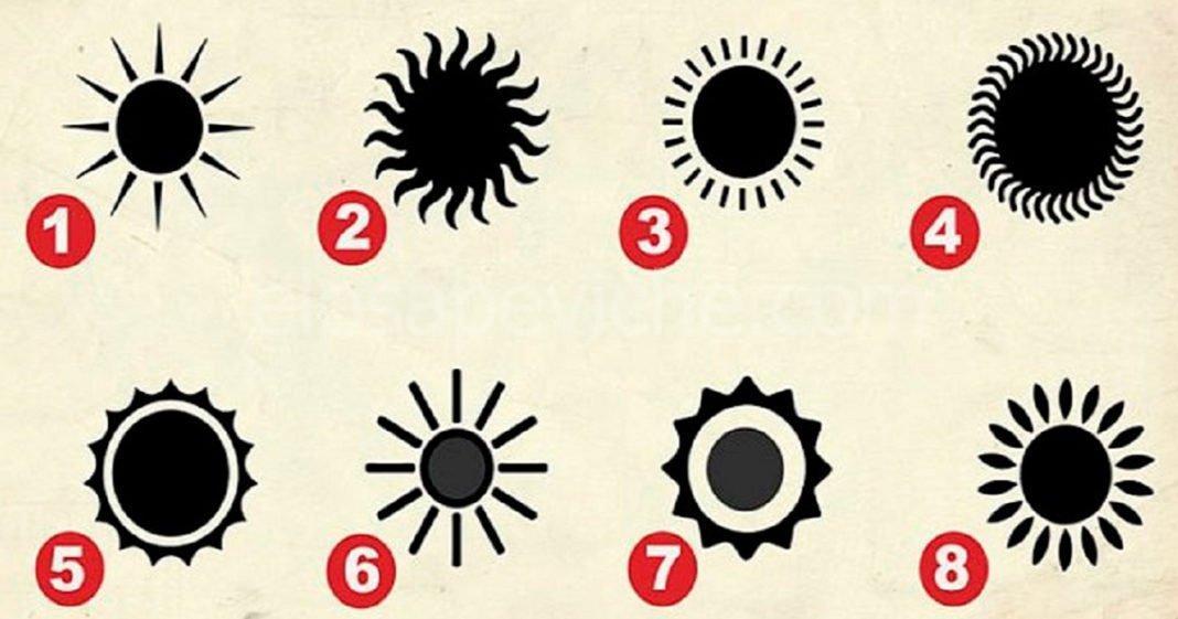 Scegli un sole che ti piace di più e questo mostrerà la caratteristica più segreta della tua personalità
