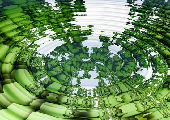 Ilusión óptica en el agua