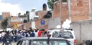 SMA cortejo fúnebre Ximena