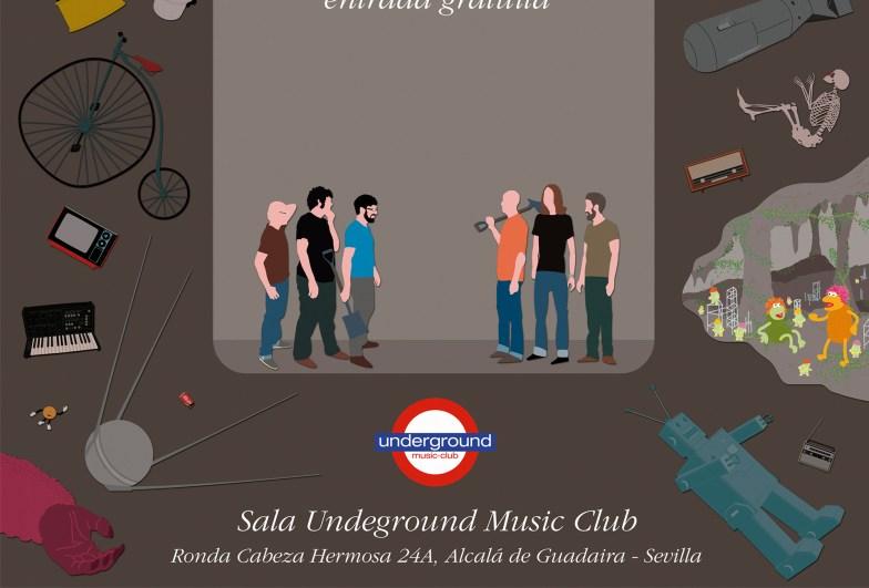 Scumm - Paracaídas fatales - detalle póster concierto 2