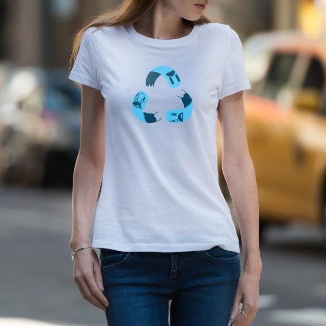 "Camiseta ""Yo reciclo"" - Mujer"