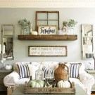 16 DIY Farmhouse Living Room Wall Decor 01