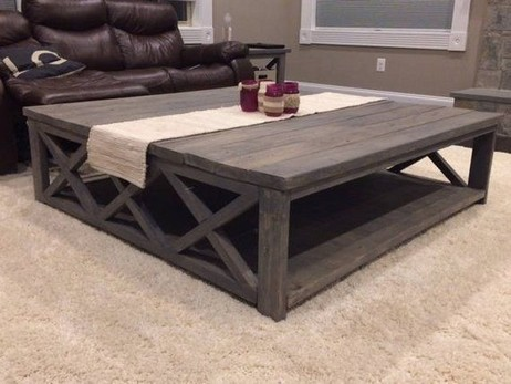 19 Beautiful Farmhouse Coffee Table Design For Living Room 13