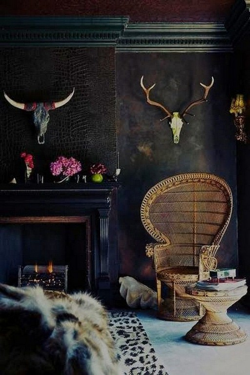 17 New Exotic Dark Boho Room Decor 24