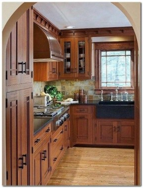 17 Stylish Rustic Kitchen Cabinet Design Ideas 11
