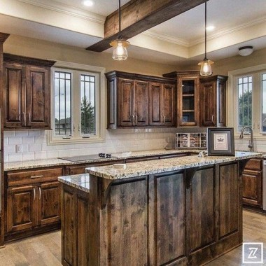 17 Stylish Rustic Kitchen Cabinet Design Ideas 21