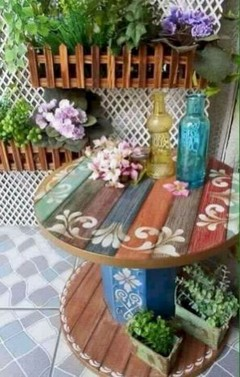 15 Classy DIY Wood Tables Ideas For Outdoor 17