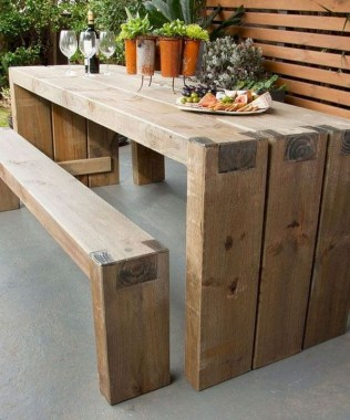 15 Classy DIY Wood Tables Ideas For Outdoor 20