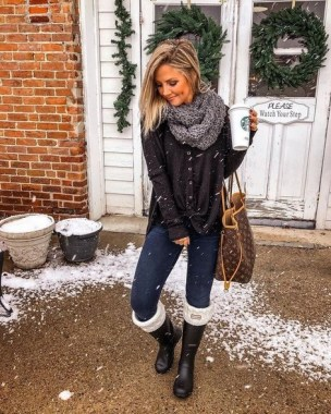 17 Hottest Winter Outfits Ideas With Scarf That Adds To Your Beauty 03