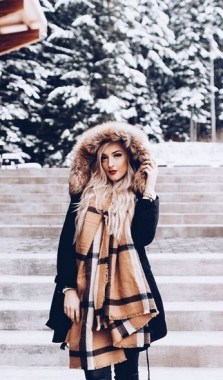 17 Hottest Winter Outfits Ideas With Scarf That Adds To Your Beauty 04