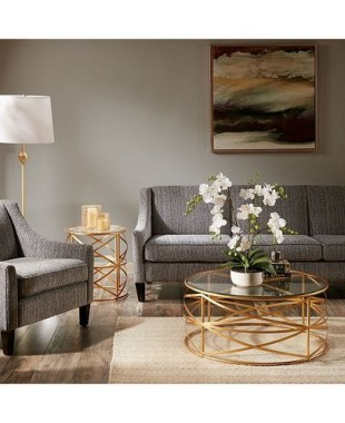 18 Classy Round Glass Coffee Table Designs Ideas For Living Room 09